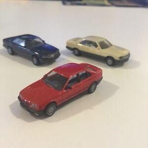 VINTAGE WIKING HERPA RED BMW 325i SEDAN 1:87 HO GERMANY VARIATION