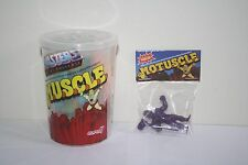 SUPER 7 MOTUSCLE MUSCLE MASTERS OF THE UNIVERSE SDCC TRASH CAN & PURPLE SKELETOR