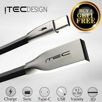 Type C 3.1 USB-C Premium ITEC 3D Zinc Alloy Cable Data Sync Charger Lead Adapter