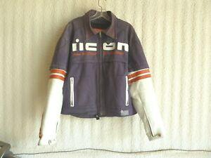 Vintage Icon Super Duty Leather/Textile Motorcycle Jacket Men's Size XL X-Large