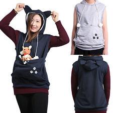 USA Women Cat Dog Carrier Kawaii Sweatshirt Sleeveless Pet Kangaroo Holder Vest