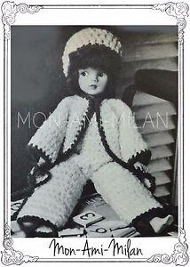 Fashion Dolls Clothes CATSUIT JACKET HAT Crochet Pattern Photocopy SINDY BARBIE