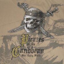 Pirates of the Caribbean T-Shirt Walt Disney World Hanes Skull Men's Size Large