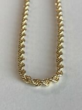10k ITALY Yellow Gold Rope Ankle Bracelet Chain  Anklet Ladies Women Teen