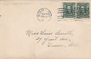 1907 US cover Boulder to Denver Colorado