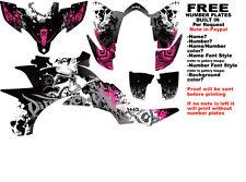 DFR FOLD GRAPHIC KIT BLACK/PINK SIDES/FENDERS YAMAHA YFZ450 YFZ 450