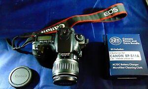 Canon EOS 20D Digital Camera DS126061 EFS 18-55MM 3 Batteries Charger Strap Lens