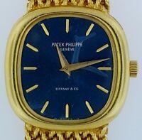 Patek Philippe Ellipse #4223/1 18K Yellow Gold~Blue Dial~Manuel~Bracelet Watch~