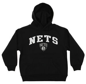 OuterStuff NBA Youth Brooklyn Nets Fleece Pullover Hoodie, Black
