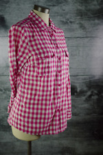 Gap Women's Small Long Sleeves Collared Shirt Plaid Check Pink Cowgirl Western S