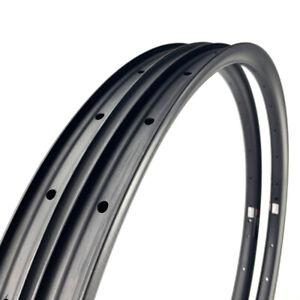 "LAST STOCK 35mm wide Carbon 27.5"" MTB Mountain Clincher Bike Rim Tubeless 1PAIR"