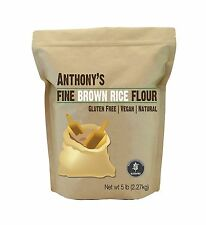 Brown Rice Flour (5 Pounds) by Anthony's Certified Gluten-Free ... Free Shipping