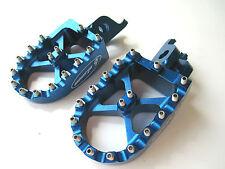 Warp 9 Billet Footpegs Blue Kawasaki KXF 450 KX450F 07 08 09 10 11 12 13 14 NEW