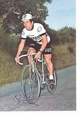 CYCLISME carte BERNARD BOURREAU  (equipe peugeot  esso 1977 )  signée
