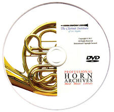 Huge Professional FRENCH HORN Sheet Music Archive DVD