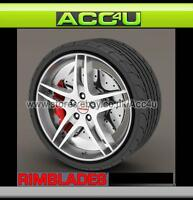 Rimblades BLACK Car 4x4 Alloy Wheel Rim Edge Lip Protectors Styling Strip Kit
