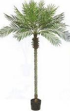 8' Artificial Phoenix Palm Tree Bush Plant Pot Topiary Arrangement Pool Patio