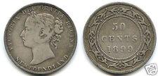 CANADA NEWFOUNDLAND VICTORIA 50 CENTS 1899 !!!!!!