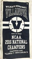 Villanova Wildcats Basketball 2016 NCAA National Championship Banner