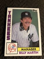 1984 Topps Billy Martin #81 NY Yankees Manager Baseball Card
