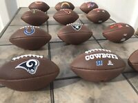 Official NFL Team Logo Footballs Youth Size High Quality Fast Shipping {Choices}