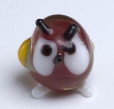 Miniature Lampwork Tiny Hand Blown Art Glass Owl Figurine Incredible Detail