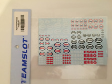 Team Slot Sponsors ESSO Decals Sheets 1:32 Scale P00010
