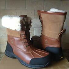 UGG Butte Worchester Waterproof Leather Fur Winter Snow Boots Size US 7 Mens
