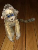 1958 Vintage Steiff Rainbow Mungo Spider Monkey Mohair Chest Tag Made In Germany