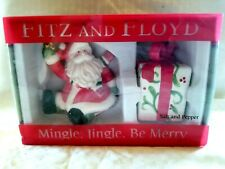 Fitz & Floyd Mingle Jingle Be Merry Salt & Pepper Set Christmas Holiday 2006