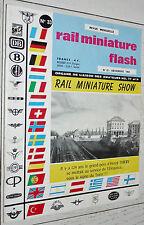 RMF RAIL MINIATURE FLASH N°33 1964 TRAINS LOCOMOTIVES / 150 Y TRIX-RIVAROSSI