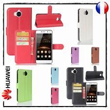 Etui porte cartes coque housse Cuir PU Leather case cover Huawei Y5 Y6 2017