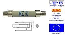 SIBA 50 238 26 25A Fuse 1100V Ultra Rapid JPSF268 5023826.25 10/14 x 85mm gPV