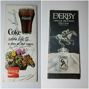 1978 Santa Anita Derby Program SIG WILLIE SHOEMAKER Affirmed Steve Cauthen OFFER