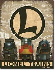 Lionel Train Legacy Railroad Retro Ad Poster Wall Art Decor Metal Tin Sign