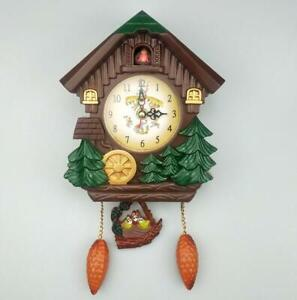 Antique Cuckoo Clock Wall Pendulum Bird Clock Home Room Decor Children Gift