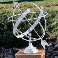 Reloj Solar de Hierro, Blanco, Decorativo Gartenuhr Para Terraza Y Jardín
