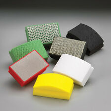 Professional Set of Diamond Hand Pads 60, 120, 200, 400, 800 Grit Made in the UK