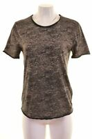 GUESS Womens T-Shirt Top Size 14 Medium Grey Cotton  NI07