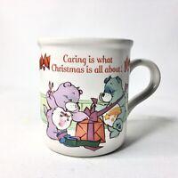 Vintage American Greetings Designers Collection Care Bears Christmas Mug