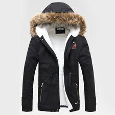 hombre invierno Abrigo grueso collar Capucha Informal Chaqueta de esquí