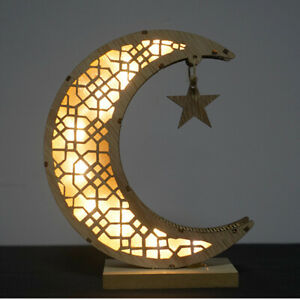 Moon Mubarak Ramadan LED Light Lantern Muslim Islam Hanging Decor For Gift