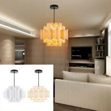 DIY Puzzle Pendant Lamp Jigsaw Lampshade Ceiling Hanging Light Home Decor Party