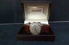 9ct Gold automatic vintage accurist mans wristwatch