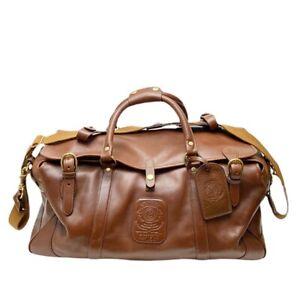 Ghurka Kilburn II No. 156 Vintage Chestnut Leather Travel Bag Duffle USA Made