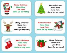 Personalised Christmas Gift Present Labels Xmas Stickers Any Name or Text