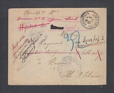 FRANCE 1915 WWI CENSORED & REDIRECTED MILITARY COVER CHAMPEUX TO REIMS