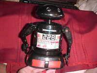 "Battery Operated DANCEBOT Plastic Robot, c.1970's, ""BLUE-BOX,"""