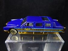 1990 Hot Wheels Blue Limousine City Mayor Car Gold Trim Cadillac/Lincoln Hybrid