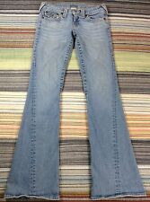 TRUE RELIGION ~ JOEY Distressed Flare Flap Pocket Jeans 27 (actual 28x32)